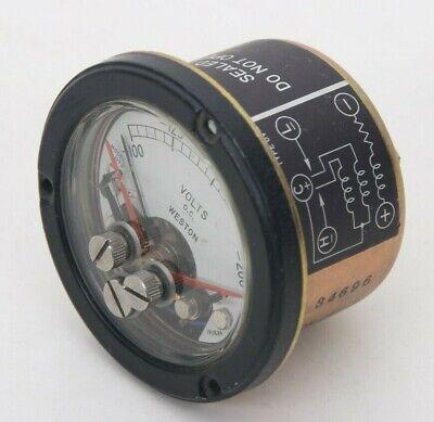 Vintage Weston Direct Current Volts Panel Meter Gauge 100-200 Model 1093 190889