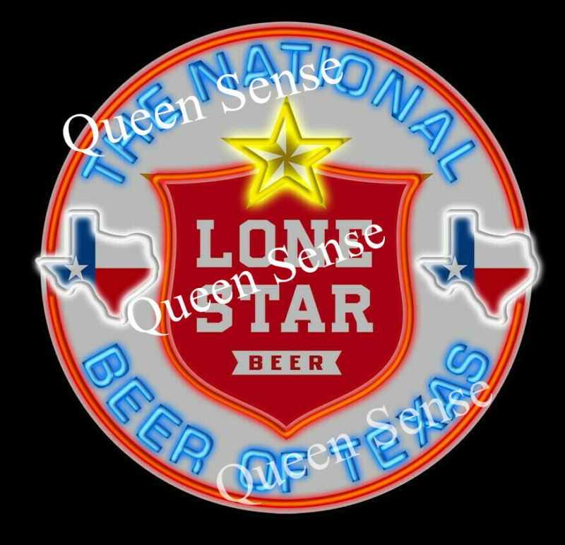 "Lone Star Shield The National Beer Of Texas Neon Light Sign Lamp 24""x24"""