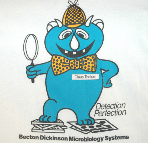 Vtg BECTON DICKINSON T Shirt RARE BALTIMORE COUNTY MARYLAND Logo USA MADE L/XL