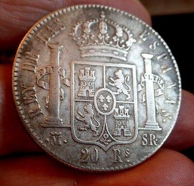 Usado, Rare 1822 Spain 20 Reales de vellon - Fernando VII Silver (.903) SR segunda mano  Embacar hacia Argentina