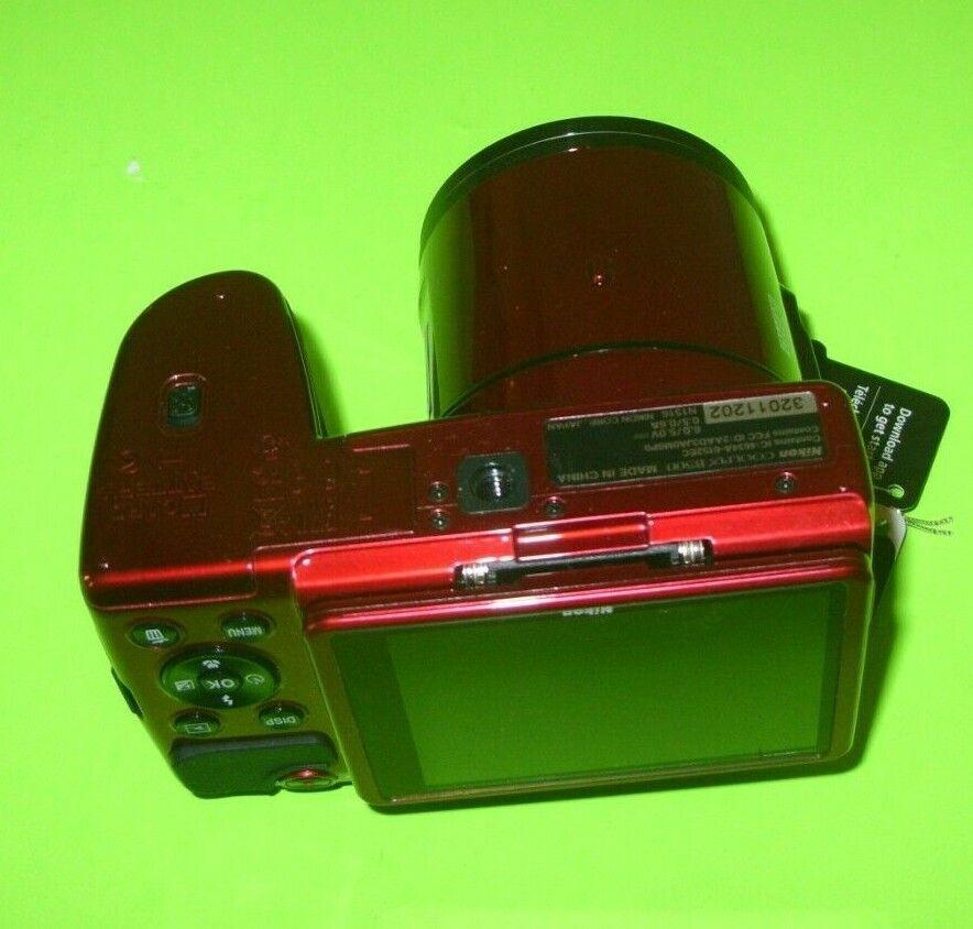 Nikon COOLPIX B500 16.0MP Digital Camera -Red  Former Displa