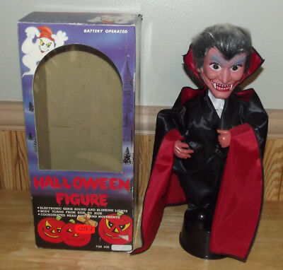 Rare Electronic Animated Halloween Vampire Dracula Light Up Eyes 17
