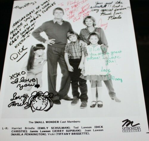 SMALL WONDER CAST HAND SIGNED AUTOGRAPH ORIGINAL #3 PHOTO PHOTOGRAPH