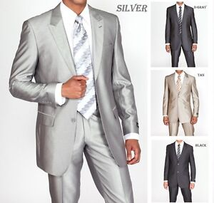 Mens-2-Piece-Slim-Fit-Luxurious-Wool-Feel-Suit-2-Button-by-Milan-Moda-57021B
