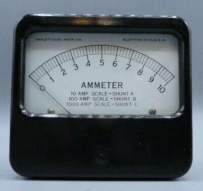 Analog Triplett Model 421- A Panel Ammeter 0 - 50 Dc Millivolts
