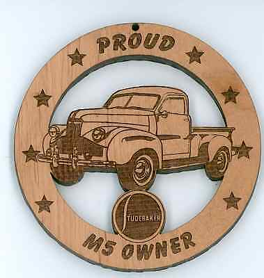Studebaker M-5 Pickup Wood Ornament Engraved