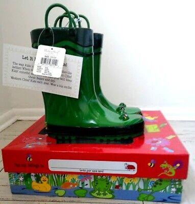 Western Chief Kids Frog Rain Boot and Umbrella Set Green Size 11/12 Set Rain Boot