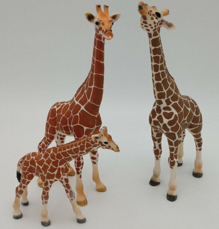 Schleich Retired Giraffe Family Set of 3