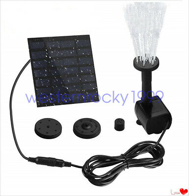 Solar Power Water Pump Panel Kit Fountain Pool Garden Pond Submersible Water -