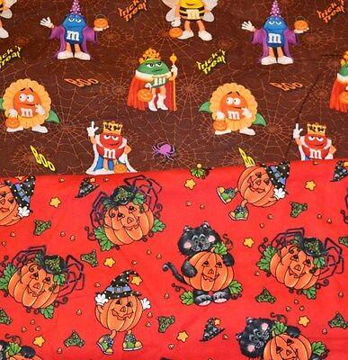 Licensed Halloween Joan Elliot Or M&Ms Trick Treat COTTON PRINT HALF YARD CHOICE](Elliot Halloween)