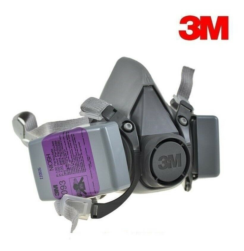 3M 6300 Half Facepiece Respirator W/ 2 Each 7093 P1OO Particulat Filter, LARGE Business & Industrial