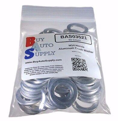 (50x) M14 Aluminum Oil Drain Plug Crush Washer *Fits* Honda Acura 94109-14000 , used for sale  Buckeye