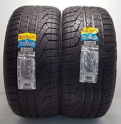 2 Brand New RUN FLAT 255/35R18 Pirelli Winter 240 Sottozero Series 2 Tires