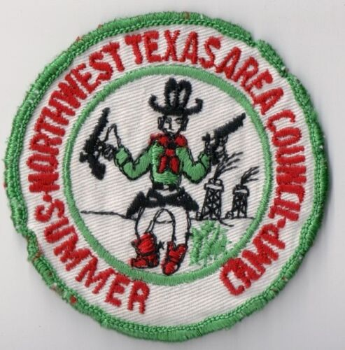 Boy Scout Patch, Summer Camp Patch 1960s-70s- Northwest Texas Area Council, NICE