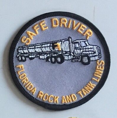 Florida Rock & Tank Lines safe driver patch 3 in dia #2389