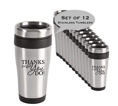 Employee Appreciation Gifts (12 Piece Set - Thank You Stainless Tumbler/Holiday Employee Appreciation)
