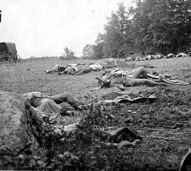 Confederate Dead Rebel Soldiers Rose Woods Gettysburg 8x10 Civil War Photo 1863