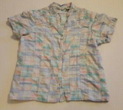 Multi Color Pastel (Orvis Shirt Sz XL Pastel Multi Color Button Front Short Sleeve )
