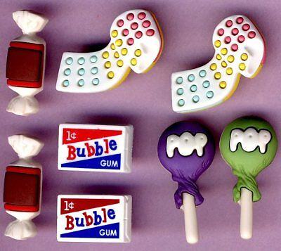 PENNY CANDY - Sweet Shop Lollipop Bubble Gum Halloween Dress It Up Craft Buttons ()