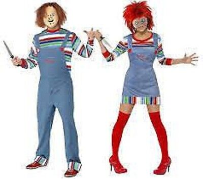 Sexy adult Halloween Chucky Chuckie Costumes Womens Fancy Men's,ladies mask