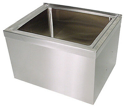 Bk Resources Bkms-1620-6 16x20x6 Floor Mount Stainless Steel Mop Sink