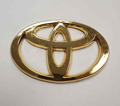 FIT TOYOTA LOGO EMBLEM BADGE GOLD UNIVERSAL FRONT REAR GRILL TRUNK CAMRY COROLLA