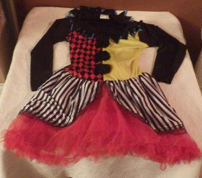 Joker Clown Girls Halloween Outfit Costume L Large -  M Medium 10-14 #115434](Girls Clown Outfit)