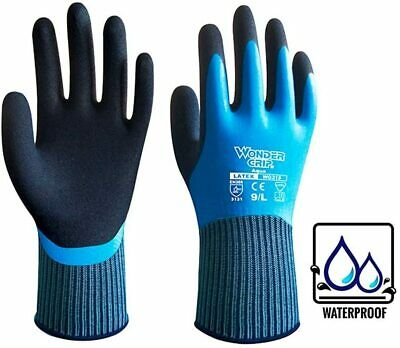 Wonder Grip 318 Aqua Latex Grip Wet Work Waterproof Safety Protection Gloves