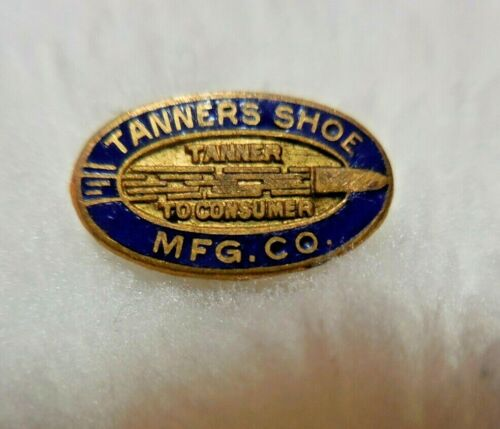 1920s Tanners Shoe Manufacturing Company Boston MA Employee or Service Lapel Pin
