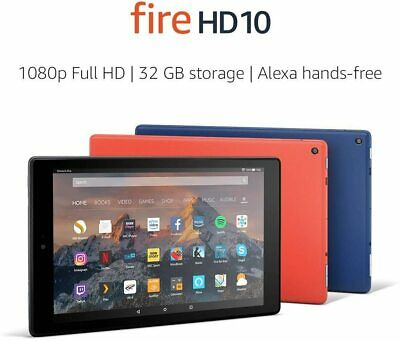 "Brand New Amazon Fire HD 10 Tablet with Alexa 10.1"" Full HD Display 64GB Storage"