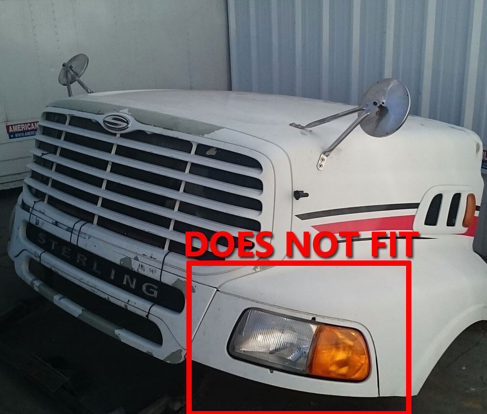 Pair LED Headlights 7x6 Headlamp for STERLING TRUCK M7500 ...