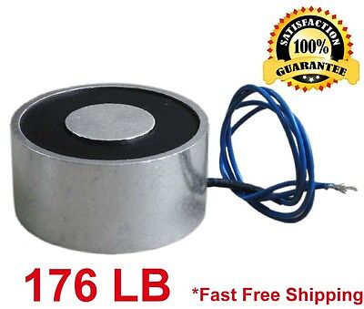 176 Lb 80kg Electric Lifting Magnet Electromagnet Solenoid Lift Holding 65mm