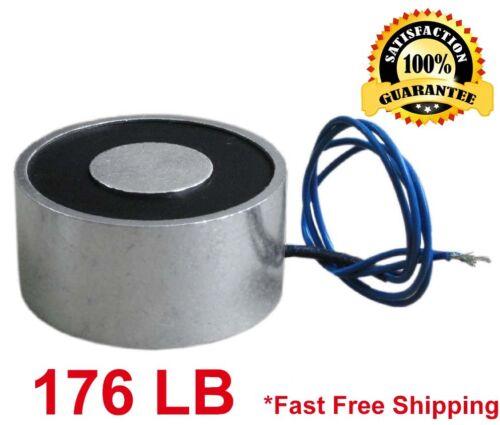 176 LB (80kg) Electric Lifting Magnet Electromagnet Solenoid Lift Holding 65mm