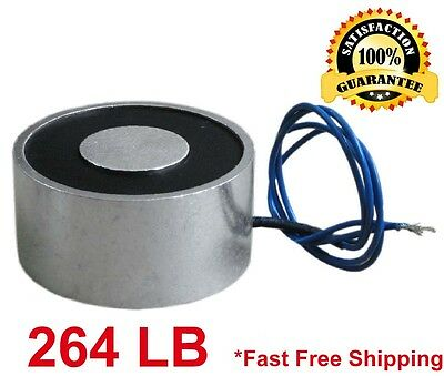 264 Lb 120kg Electric Lifting Magnet Electromagnet Solenoid Lift Holding 100mm