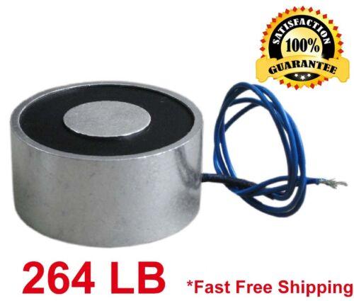264 LB (120kg) Electric Lifting Magnet Electromagnet Solenoid Lift Holding 100mm