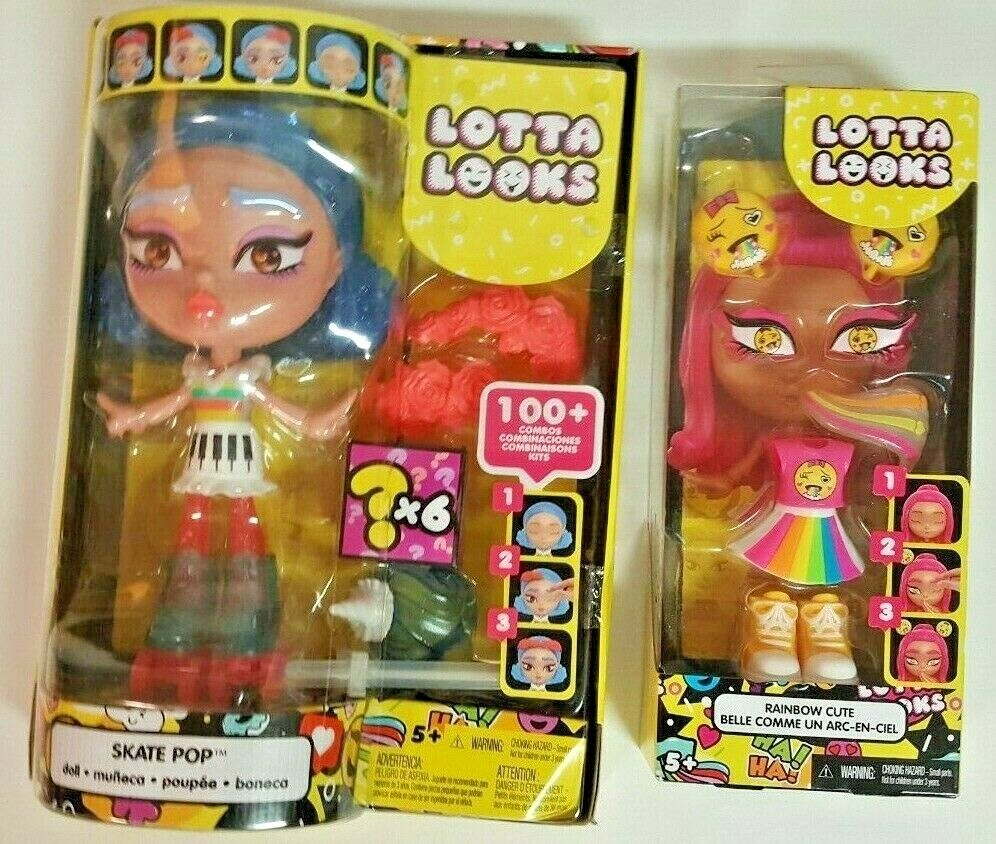 Lotta Looks Skate Pop Doll With 10 Plus Plug/Play Pieces With Accessories - $22.99