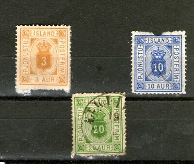 """1876 ICELAND """"OFFICE """" STAMPS/ some damages/ (MINT & USED-HINGED) CV $120+++"""