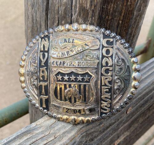 GIST Belt Buckle - Quarter Horse Congress award 2004