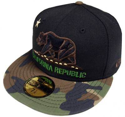 New Era California Republic Black Camo 59fifty 5950 Fitted Cap Limited Edition Camo 59fifty Fitted Cap