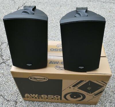 Klipsch AW650 Black Open Box Outdoor Loudspeakers