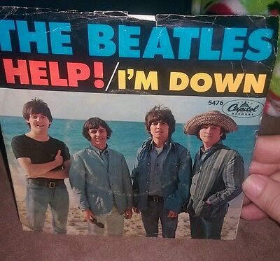 Beatles 45 Rpm Record Help Im Down Original Capitol  5476