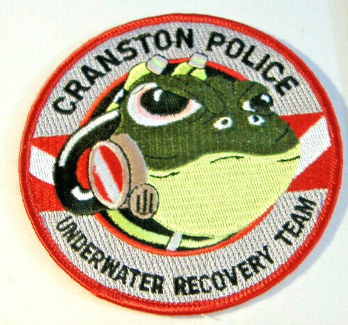 CRANSTON POLICE ~ UNDERWATER RECOVERY TEAM ~ RHODE ISLAND FABRIC PATCH