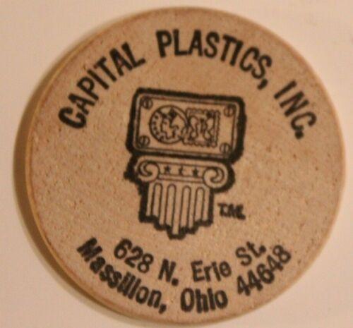 Vintage Capital Plastics Inc Wooden Nickel Massillon Ohio