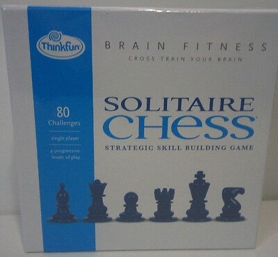 THINKFUN SOLITAIRE CHESS-Strategic Skill Building Game!--NEW in - Solitaire Chess