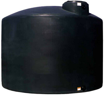 Norwesco 2100 Gallon Plastic Portable Water Storage Tank Black