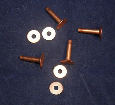 "Rivets and Burrs - #9 - 3/4"" - Copper - Quantity of 12 (F192)"