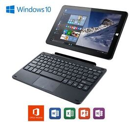 Linx 1010B Windows 10 2 in 1 Quad Core Tablet with Keyboard & MS Office 2GB 32GB