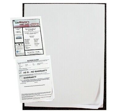 250 Car Dealer Window Sticker Blank Window Stickers Buyers Guidesblank Labels