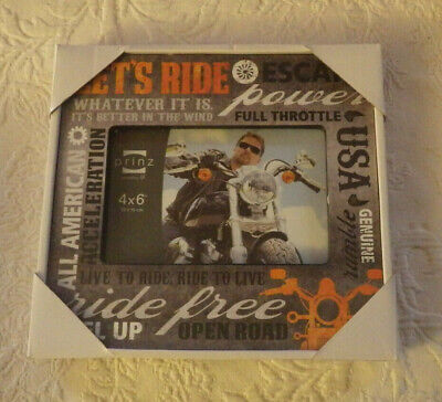Prinz Motorcycle Wood More Than Words Picture Frame Ride Holds 4