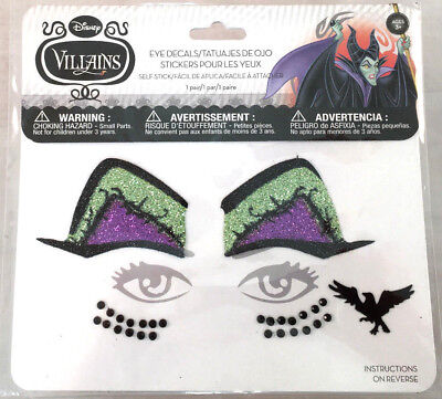 Claire's DISNEY VILLAINS Sleeping Beauty MALEFICENT Eye Decals Costume - Sleeping Beauty Maleficent Costume
